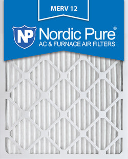 12x20x1 Pleated MERV 12 AC Furnace Filters Qty 12 - Nordic Pure
