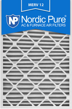 16x30x2 Pleated MERV 12 AC Furnace Filters Qty 3 - Nordic Pure