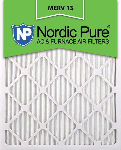 10x20x1 Pleated MERV 13 AC Furnace Filters Qty 3 - Nordic Pure