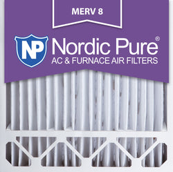 20x20x5 Honeywell Replacement Pleated MERV 8 Air Filters Qty 2 - Nordic Pure
