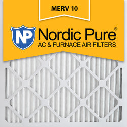 10x10x1 Pleated MERV 10 AC Furnace Filters Qty 12 - Nordic Pure
