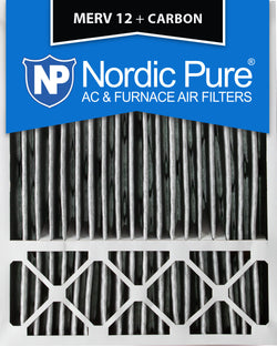 20x25x5 Honeywell Replacement Pleated MERV 12 Plus Carbon Qty 2 - Nordic Pure