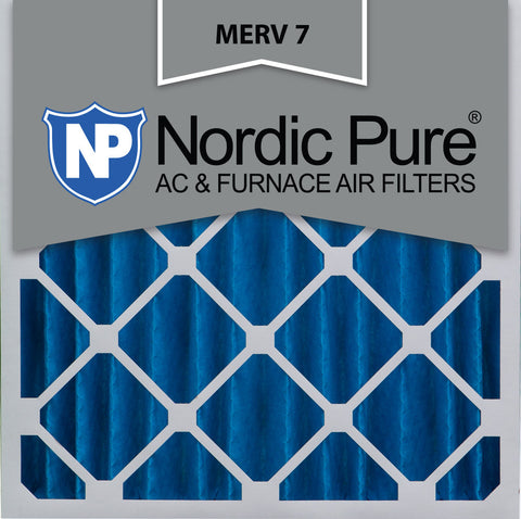 20x20x4 Pleated MERV 7 AC Furnace Filters Qty 2 - Nordic Pure