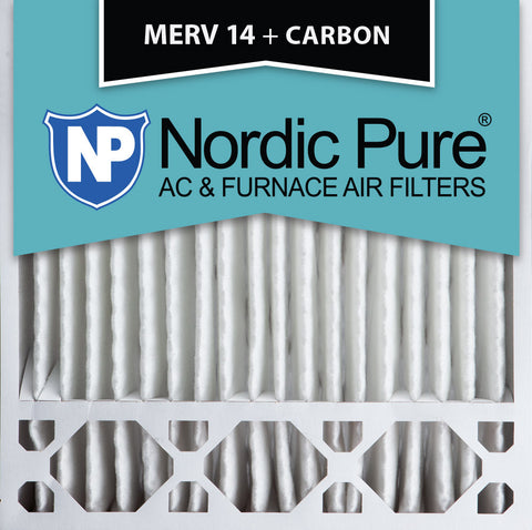 20x20x5 Honeywell Replacement MERV 14 Plus Carbon Qty 2 - Nordic Pure