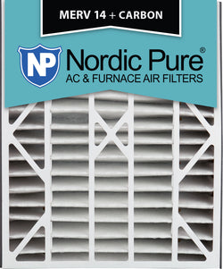 20x25x5 Air Bear Replacement MERV 14 Plus Carbon Qty 4 - Nordic Pure