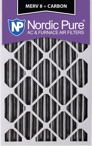 20x25x4 Pleated MERV 8 Plus Carbon AC Furnace Filters Qty 6 - Nordic Pure