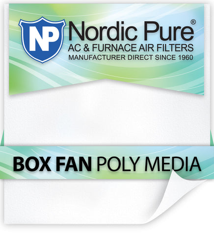 Box Fan Poly Filters-12 - Nordic Pure