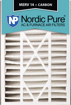 16x25x5 Air Bear Replacement MERV 14 Plus Carbon Qty 4 - Nordic Pure
