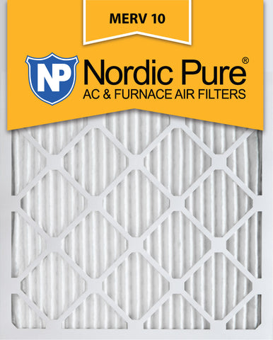 10x20x1 Pleated MERV 10 AC Furnace Filters Qty 12 - Nordic Pure