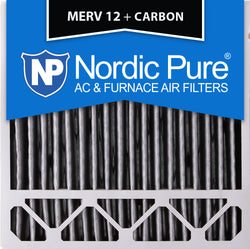 20x20x5 Honeywell Replacement Pleated MERV 12 Plus Carbon Qty 4 - Nordic Pure