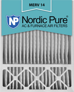 20x25x5 Honeywell Replacement Pleated MERV 14 Air Filters Qty 4 - Nordic Pure