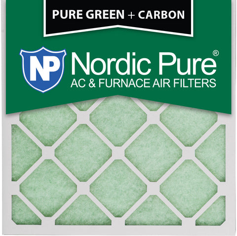 12x12x1 Pure Green Plus Carbon AC Furnace Air Filters Qty 12 - Nordic Pure