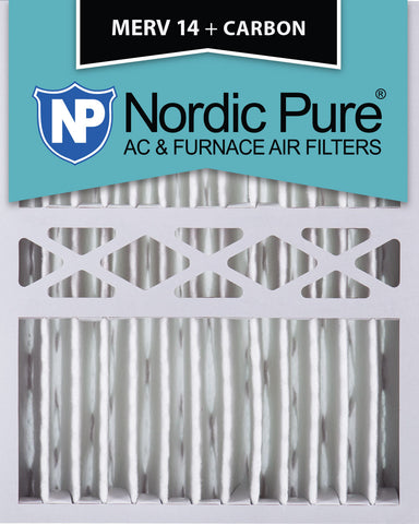 16x20x5 Honeywell Replacement Merv 14 Plus Carbon Qty 2 - Nordic Pure