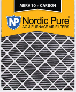 30x36x2 Geothermal MERV 10 Pleated Plus Carbon AC Furnace Filters Qty 3 - Nordic Pure