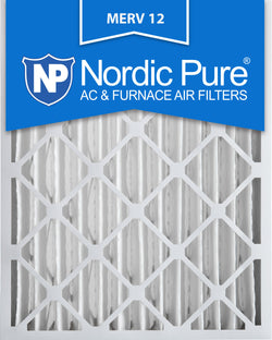 16x20x4 Pleated MERV 12 AC Furnace Filters Qty 2 - Nordic Pure