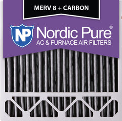 20x20x5 Honeywell Replacement Pleated MERV 8 Plus Carbon Qty 2 - Nordic Pure