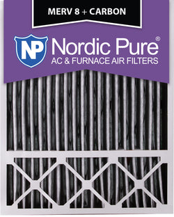 20x25x5 Lennox X6673_X6675 Replacement Air Filters MERV 8 Pleated Plus Carbon Qty 2 - Nordic Pure
