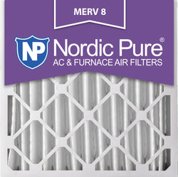 20x20x4 Pleated MERV 8 AC Furnace Filters Qty 2 - Nordic Pure