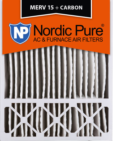 20x25x5 Honeywell Replacement MERV 15 Plus Carbon Qty 2 - Nordic Pure