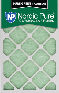 10x20x1 Pure Green Plus Carbon AC Furnace Air Filters Qty 12 - Nordic Pure
