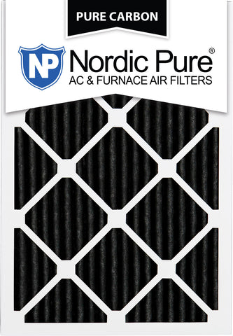 12x20x1 Pure Carbon Pleated AC Furnace Filters Qty 6 - Nordic Pure