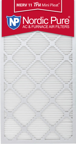 20x30x1 Tru Mini Pleat Merv 11 AC Furnace Air Filters Qty 6 - Nordic Pure