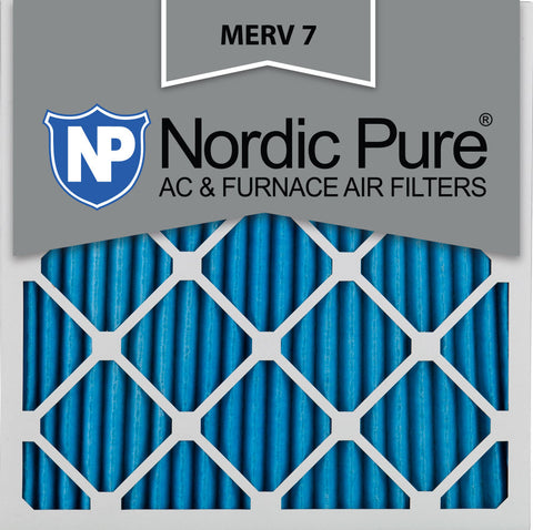 10x10x1 Pleated MERV 7 AC Furnace Filters Qty 12 - Nordic Pure