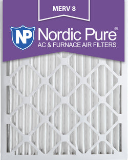 12x20x2 Pleated MERV 8 AC Furnace Filters Qty 3 - Nordic Pure