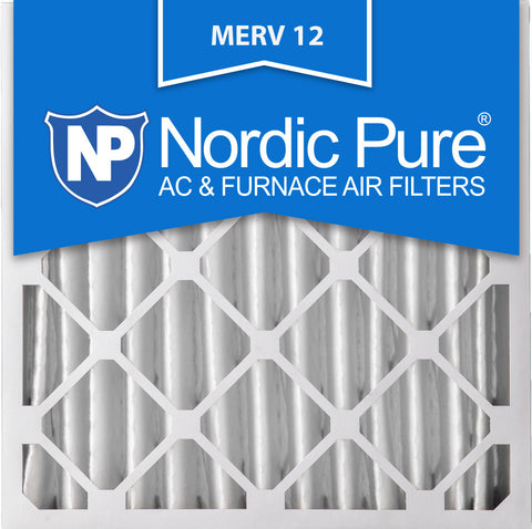 24x24x4 Pleated MERV 12 AC Furnace Filters Qty 1 - Nordic Pure