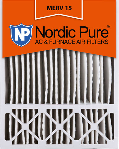 20x25x5 Honeywell Replacement Pleated MERV 15 Air Filters Qty 4 - Nordic Pure