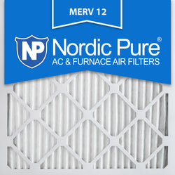12x12x1 Pleated MERV 12 AC Furnace Filters Qty 3 - Nordic Pure