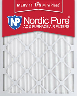 16x25x1 Tru Mini Pleat Merv 11 AC Furnace Air Filters Qty 12 - Nordic Pure