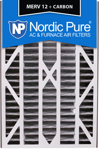 16x25x3 Air Bear Cub Replacement MERV 12 Pleated Plus Carbon Qty 1 - Nordic Pure