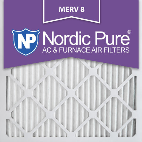 10x10x1 Pleated MERV 8 AC Furnace Filters Qty 12 - Nordic Pure