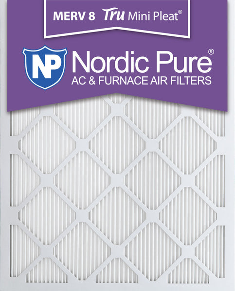 8x20x1 Tru Mini Pleat Merv 8 AC Furnace Air Filters Qty 3 - Nordic Pure