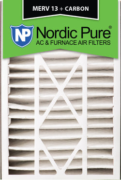 16x25x5 Air Bear Replacement MERV 13 Plus Carbon Qty 4 - Nordic Pure