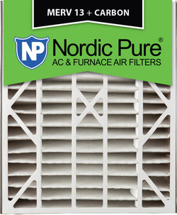 20x25x5 Air Bear Replacement MERV 13 Plus Carbon Qty 4 - Nordic Pure