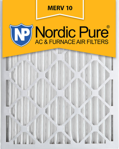 10x20x2 Pleated MERV 10 AC Furnace Filters Qty 3 - Nordic Pure