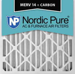 20x20x4 MERV 14 Plus Carbon AC Furnace Filters Qty 2 - Nordic Pure