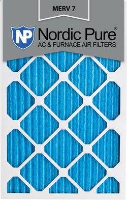 12x20x1 Pleated MERV 7 AC Furnace Filters Qty 12 - Nordic Pure