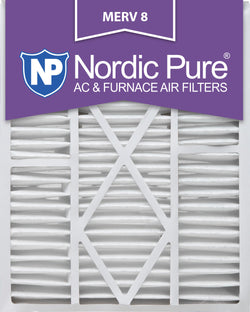 20x25x5 1/4 (20x25x5.25) Goodman/Carrier/Amana Replacement MERV 8 Qty 2 - Nordic Pure