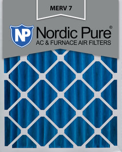 16x25x4 Pleated MERV 7 AC Furnace Filters Qty 2 - Nordic Pure