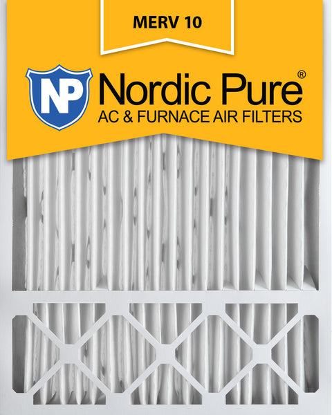 20x25x5 Honeywell Replacement Pleated MERV 10 Air Filters Qty 1 - Nordic Pure