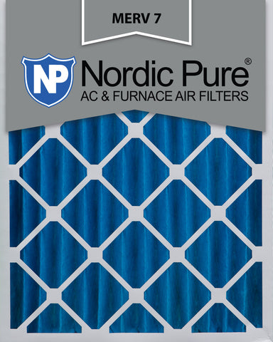 16x20x4 Pleated MERV 7 AC Furnace Filters Qty 6 - Nordic Pure