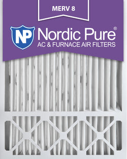 20x25x5 Honeywell Replacement Pleated MERV 8 Air Filters Qty 2 - Nordic Pure