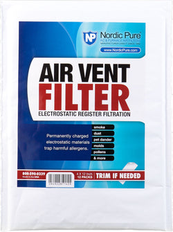 Air Vent Filters 4x12 - Nordic Pure