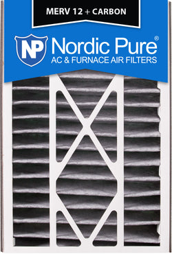 16x25x5 Air Bear Replacement MERV 12 Pleated Plus Carbon Qty 4 - Nordic Pure
