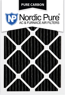 12x25x1 Pure Carbon Pleated AC Furnace Filters Qty 12 - Nordic Pure