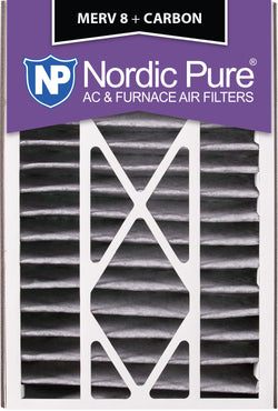 16x25x5 Air Bear Replacement MERV 8 Pleated Plus Carbon Qty 2 - Nordic Pure