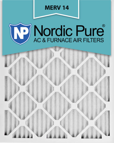 12x18x1 Pleated MERV 14 AC Furnace Filters Qty 24 - Nordic Pure